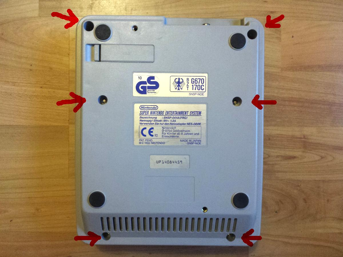 Super Nintendo - 50/60 Hz + Lockout-Schalter   retro-magic.de